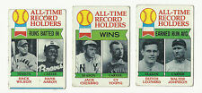 VINTAGE 1979 TOPPS BASEBALL CARDS – ALL TIME RECORD HOLDERS – MLB