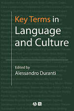 Key Terms in Language and Culture by John Wiley and Sons Ltd (Paperback, 2001)