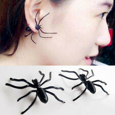 1X Harajuku Women Black Spider Charms Ear Stud Piercing Earrings Fashion Jewelry