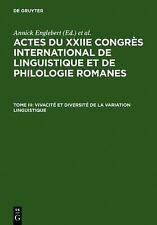 Vivacite Et Diversite de La Variation Linguistique