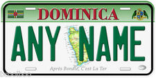 Dominica Any Name Personalized Novelty Car License Plate B01