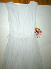 New Womens 8 NWT MSGM Dress Evening Gown Pale Light Gray Italy 44 Long Designer