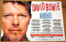 DAVID BOWIE ~ MORRISSEY ~ OUTSIDE UK CONCERT TOUR 2-SIDED HANDBILL FLYER 2005