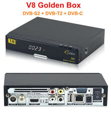 Freesat V8 Golden 1080p Full HD DVB-S2 +T2 +C Digital Satellite TV Receiver IPTV