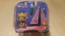 Littlest Pet Shop Single Pack Figure Kitten w/Bandana Tent New Rare Collectible