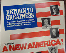 Return to Greatness to inspire a New America 33RPM 032816 TLJ
