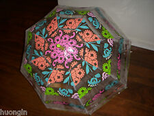 "Vera Bradley LOLA Trendy Chic Large 36"" Clear BUBBLE UMBRELLA - NWT"