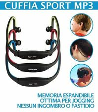 CUFFIE CUFFIA SPORT MP3 RADIO FM INTEGRATA WIRELESS USB X CORSA LETTORE MICRO SD