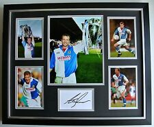 Alan Shearer SIGNED FRAMED Photo Autograph Huge display Blackburn Rovers & COA