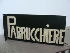 INSEGNA PARRUCCHIERE BARBIERE TARGA OLD SIGN ITALY