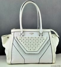 NWT Handbag GUESS Tough Luv Satchel Bag White