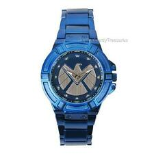 MARVEL Avengers LIC Agents of SHIELD Logo WATCH LTD Ed BLUE METAL Bracelet BAND