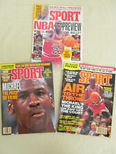 Sport Magazine 3 1991 Issues with Michael Jordan Covers and Articles