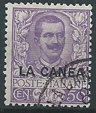 1905 LEVANTE LA CANEA USATO FLOREALE 50 CENT - W138-2