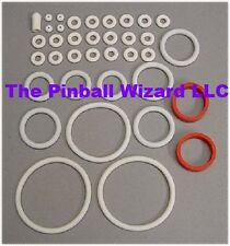 Wizard Pinball Machine White Rubber Ring Kit - 1975 Bally