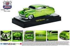 M2MACHINES 1:64 SCALE DIECAST METAL CANDY GREEN 1949 MERCURY GROUND POUNDER