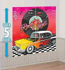 CLASSIC 50'S ROCK & ROLL SCENE SETTER PARTY DECORATION PROP 60's THEME