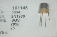 SGS 2N1986 Transistor NPN Low Power 3-Pin New Lot Quantity-10
