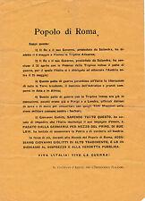 VOLANTINO INTERVENTISTA POPOLO DI ROMA ACCUSA GIOVANNI GIOLITTI TRADITORE 8-192
