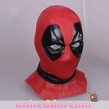 Deadpool 3D Adult Latex Mask Fancy Dress Cosplay Costume Prop Halloween Mask