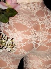 VTG SILKY Debutante SPANDEX SHEER LACE LACY VICTORIAN GOLD HINT TIGHTS PANTS SM