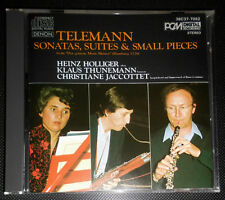 TELEMANN SONATAS... HEINZ HOLLIGER KLAUS THUNEMANN CHRISTIANE JACCOTTET CD JAPAN