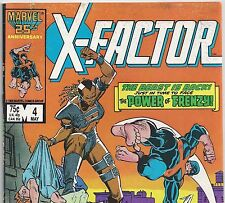 X-FACTOR #4 with Original X-Men vs Tower from Mar 1986 in Fine con. DM