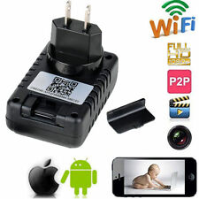Full HD 1080P WIFI SPY Hidden Wall Charger IP Camera Adapter DVR Video Recorders
