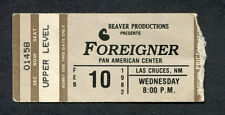 1982 Foreigner Concert Ticket Stub Las Cruces NM Double Vision