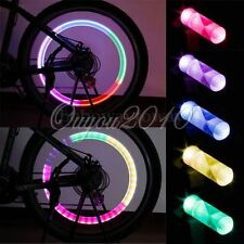2x LED Lamp Flash Tyre Wheel Valve Cap Neon Light For Bike Bicycle Motorcycle