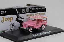 1960 jeep Surrey cj3b elvis presley Pink 1:43 GreenLight