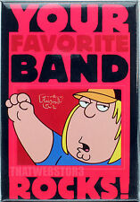 Family Guy Chris Griffin Your Favorite Band Rocks Magnet ~ Officially Licensed