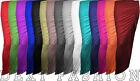 LADIES SIDE SPLIT SLIT RUCHED SKIRT WOMEN LONG GYPSY MAXI DRESS SIZES 8 - 14