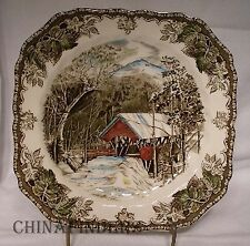 JOHNSON BROTHERS china FRIENDLY VILLAGE made in England SQUARE Salad Plate 7-5/8