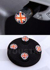 New Union Jack Logo Chrome Valve Tire Caps for Land Rover Range Rover Discovery