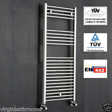Straight bathroom heated towel radiator rail 1200x500