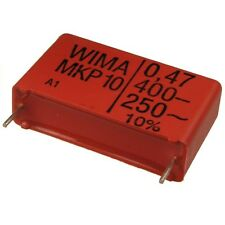 2 WIMA Impulsfester Polypropylen Kondensator MKP10 400V 0,47uF 27,5mm 089721