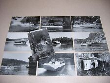 1960s AMPHIBIOUS DUCK BOATS WISCONSIN DELLS WI. VTG REAL-PHOTO RPPC POSTCARD LOT