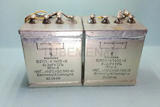 Matched Pair Germany Siemens 2.0+2.0uf 160V MP Paper-in-Oil Capacitor  KLANGFILM