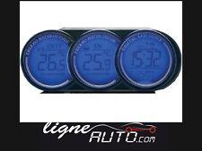 Thermometre luxe interieur / exterieur / montre 3 en 1 auto voiture camping car