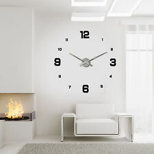 Free Shipping Wall Clock Home Decor Frameless DIY Sticker 3D Watches On The Wall