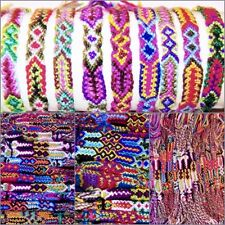30 FRIENDSHIP BRACELET COTTON WOVEN COLOURFUL SURF ANKLET BOY GIRL WOMEN MEN NEW