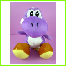 "Super Mario Bros Plush Doll Soft Figure Sitting YOSHI 7"" HOT PURPLE + GIFT"