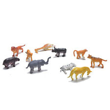 10x Wild Zoo Animals Lion Tiger Leopard Hippo Giraffe Figure Kids Toys DSUK