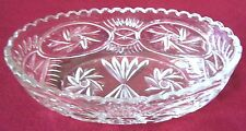 """VINTAGE CRYSTAL FRUIT BOWL. EXCELLENT CONDITION 3 3/4 TALL X 5 3/4"""" WIDE X 11"""" L"""