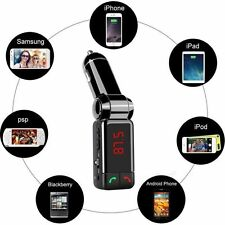 WIRELESS Bluetooth Trasmettitore FM Auto Radio Lettore MP3 Caricabatterie USB per iPhone 6