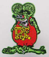 """RAT FINK"" Hot-Rod Character Iron-On Embroidered Patch - MIX 'N' MATCH - #1U15"