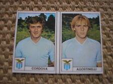 EDIS CALCIATORI 1977-78 LAZIO CORDOVA AGOSTINELLI #207 208  VELINA NUOVA CARD