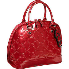 Hello Kitty x Loungefly Tango Red Embossed Patent PVC Quilted Handbag NWT