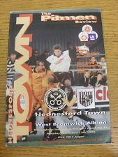 13/11/1995 West Bromwich Albion Hednesford ciudad V [Birmingham Senior Cup]. Trus